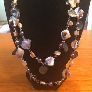 Jewelry - Blue Necklace and Earrings Set
